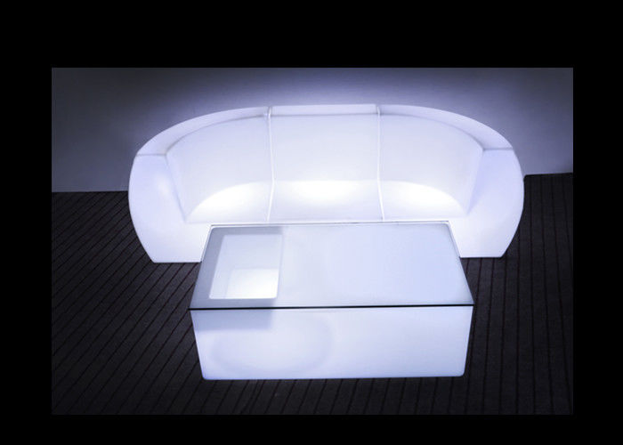 Flashing LED Illuminated Furniture Glowing Light Up Sofa Lightweight For Home