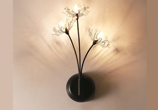 Flower Crystal Led Wall Decorative Lights Lights 240V Good Chromaticity